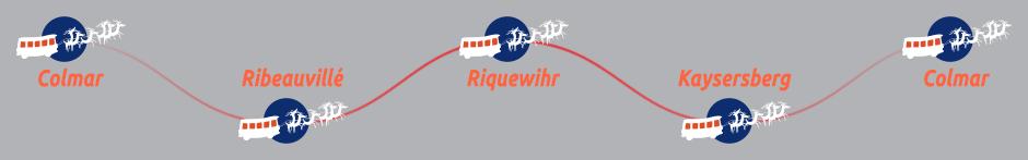 Itinéraire de la ligne deux des Navettes de Noëldu Pays des Etoiles